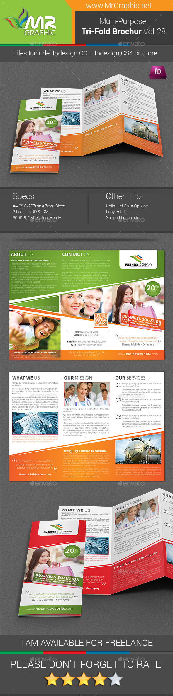 GraphicRiver Multipurpose Business Tri-Fold Brochure Vol-28 9014795