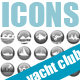 Yacht Club Icons - GraphicRiver Item for Sale