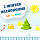 Christmas Backgrounds Set Day and Night - GraphicRiver Item for Sale