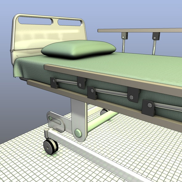 3DOcean Hospital Bed with Rails 116997
