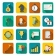 Business Strategy Planning Icon Flat - GraphicRiver Item for Sale
