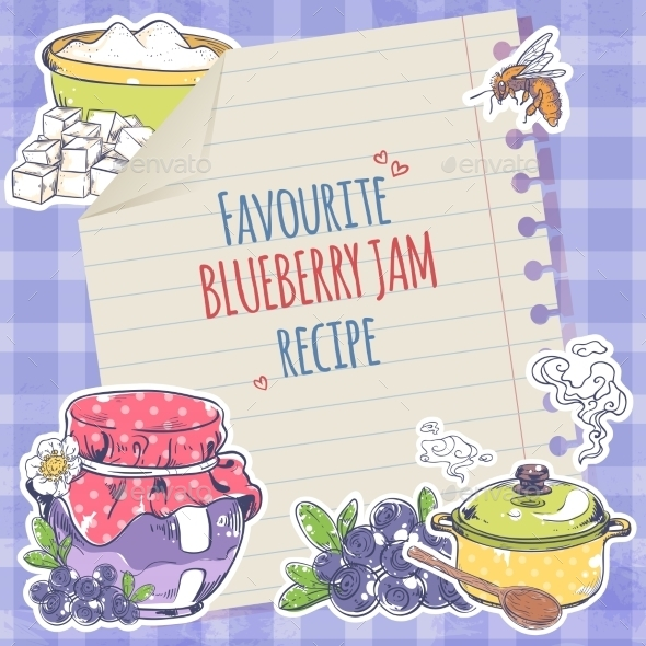 GraphicRiver Blueberry Jam Poster 9015017