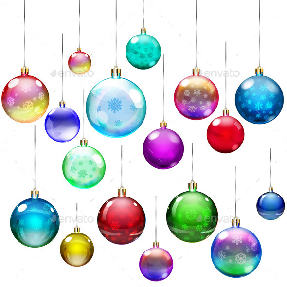 GraphicRiver Set of Christmas Balls 9015265