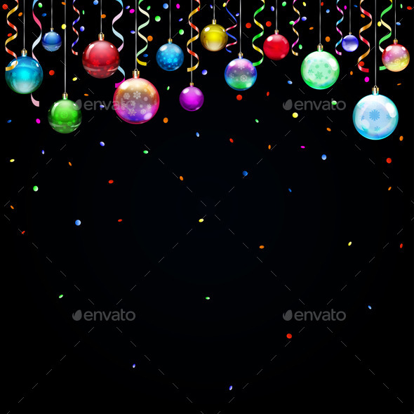 GraphicRiver Christmas Background with Christmas Balls 9015416
