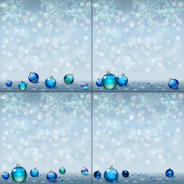 GraphicRiver Christmas Backgrounds with Christmas Balls 9015438