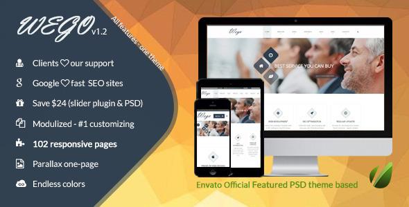 ThemeForest Wego HTML5 Responsive Business Premium Template 8961332