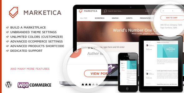 ThemeForest Marketica Marketplace WordPress Theme 8988002