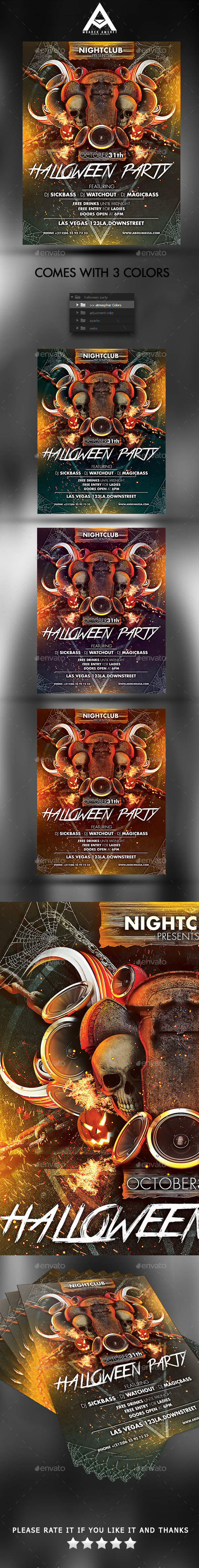 GraphicRiver Halloween Party 9015833