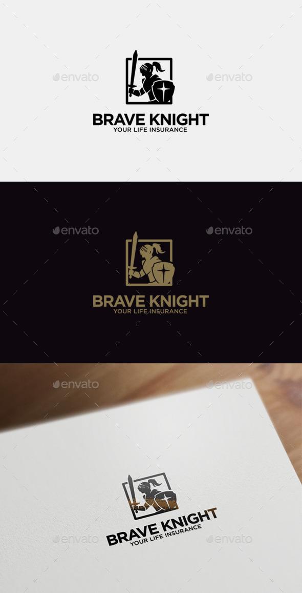 GraphicRiver Brave Knight Logo Template 9016236