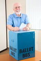 Senior Man with Ballot Box - PhotoDune Item for Sale