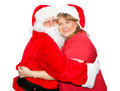 Mrs Claus Hugs Santa - PhotoDune Item for Sale