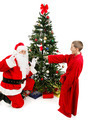 Boy Surprises Santa Claus - PhotoDune Item for Sale