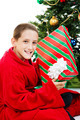 Boy With Chrstmas Gift - PhotoDune Item for Sale