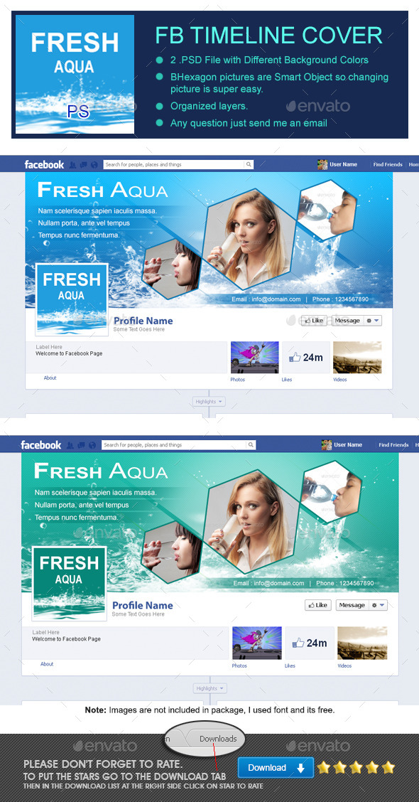 GraphicRiver Fresh Aqua Fb Timeline Cover 9016570