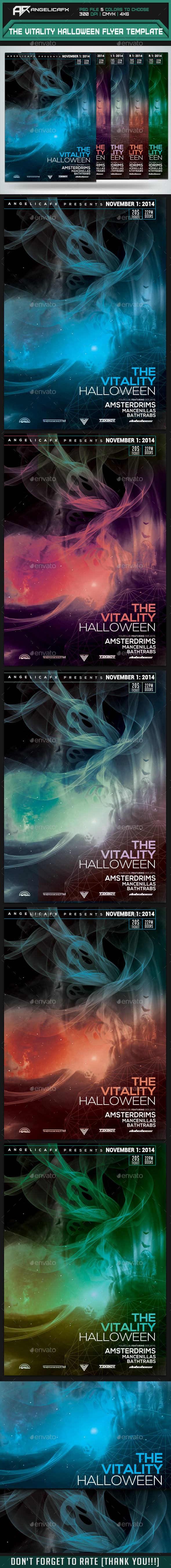 GraphicRiver The Vitality Halloween Flyer Template 9016577