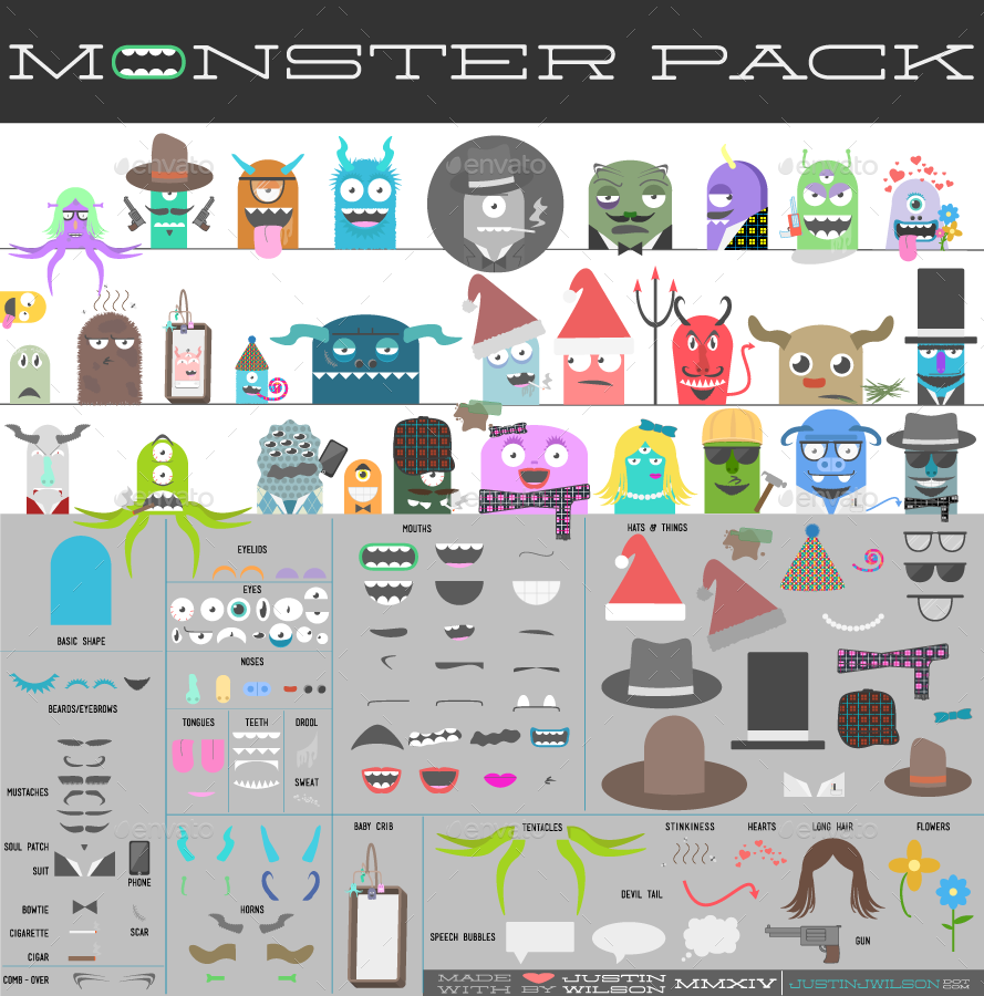 Monster Creation Kit - Pre-Made Characters & Parts