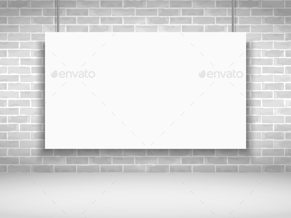 GraphicRiver Banner on Brick Wall 9016610