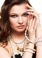 Beautiful young woman in necklace - PhotoDune Item for Sale
