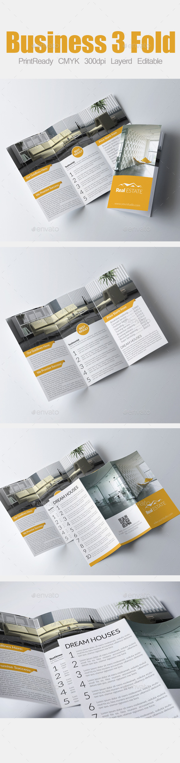 GraphicRiver Tri Fold Real Estate Brochure 9016922