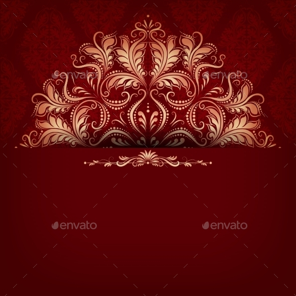 GraphicRiver Elegant Filigree Ornament on Seamless 9016948