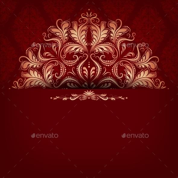 GraphicRiver Elegant Filigree Ornament on Seamless 9016948