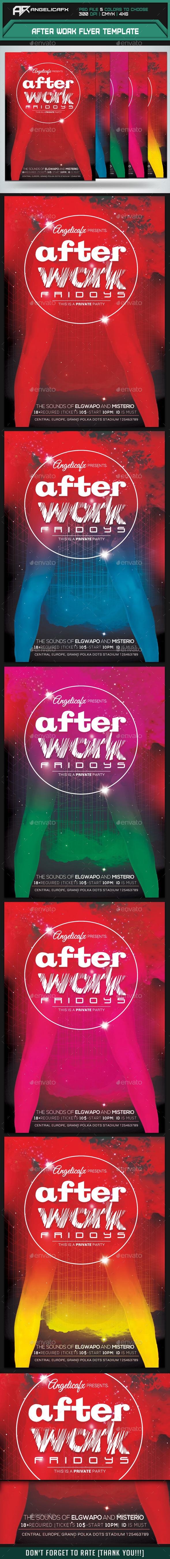 GraphicRiver After Work Flyer Template 9016949