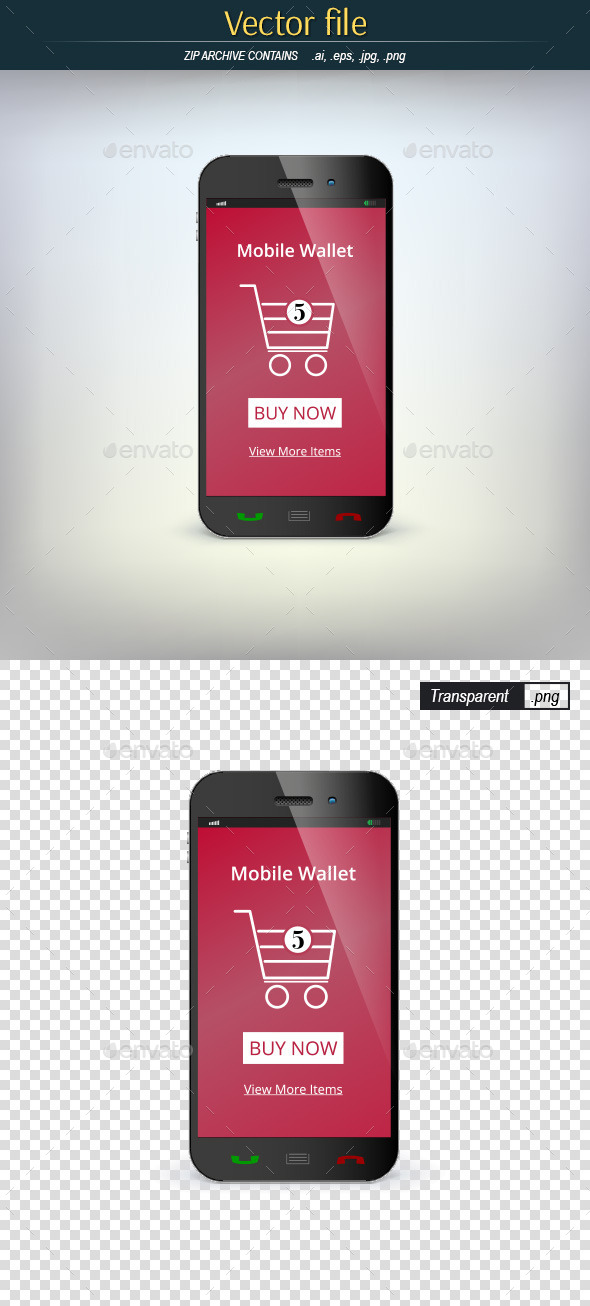 GraphicRiver Mobile Wallet 9017233