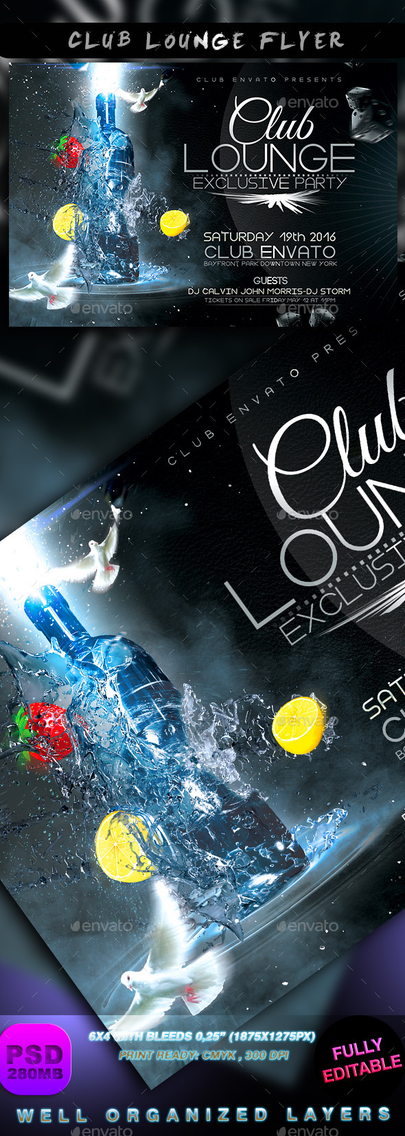 GraphicRiver Club Lounge Flyer 9017254