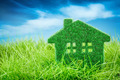 House on the green grass - PhotoDune Item for Sale