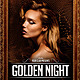 Golden Night Party Flyer Template