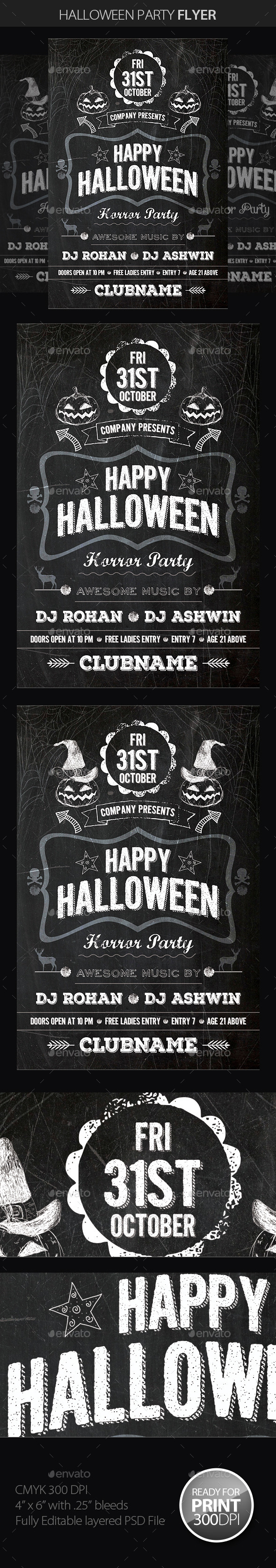 GraphicRiver Halloween Party Flyer 8989013