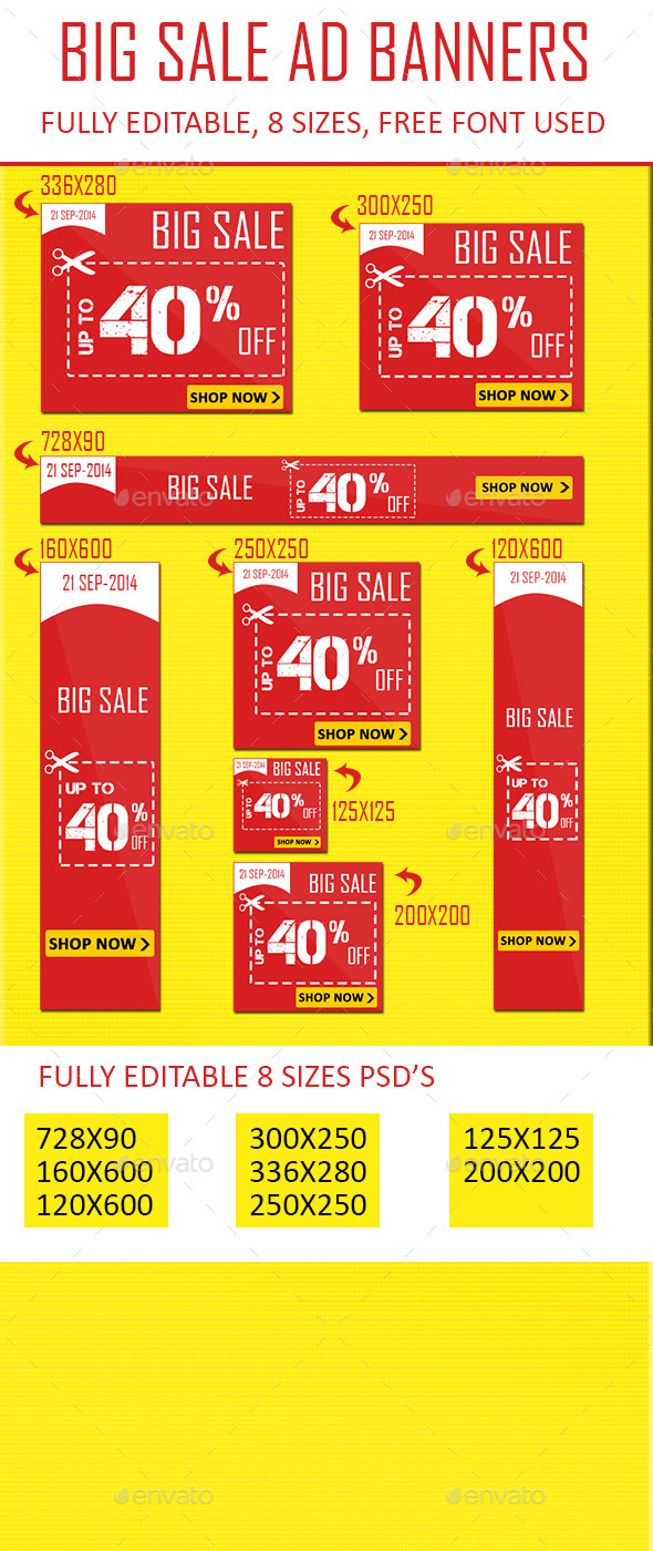 GraphicRiver Flat Color Sale Web Banner Ads 9017723
