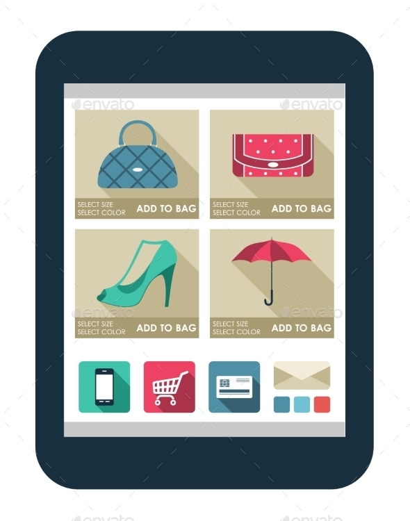 GraphicRiver Online Shop on the Tablet Screen 9018071