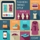 Set of Flat Design Fashion Icon - GraphicRiver Item for Sale