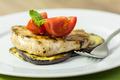Grilled Egg Plant Slice With Pork Steak - PhotoDune Item for Sale