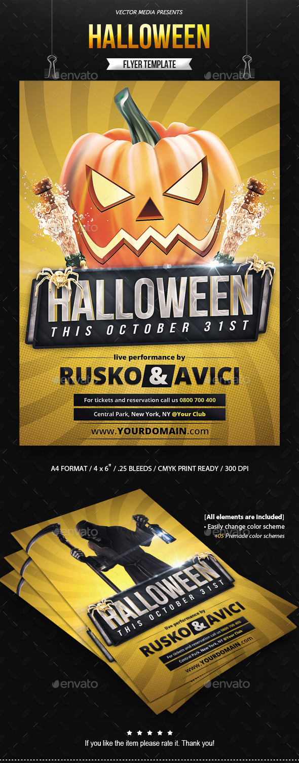 GraphicRiver Halloween Flyer 9018568