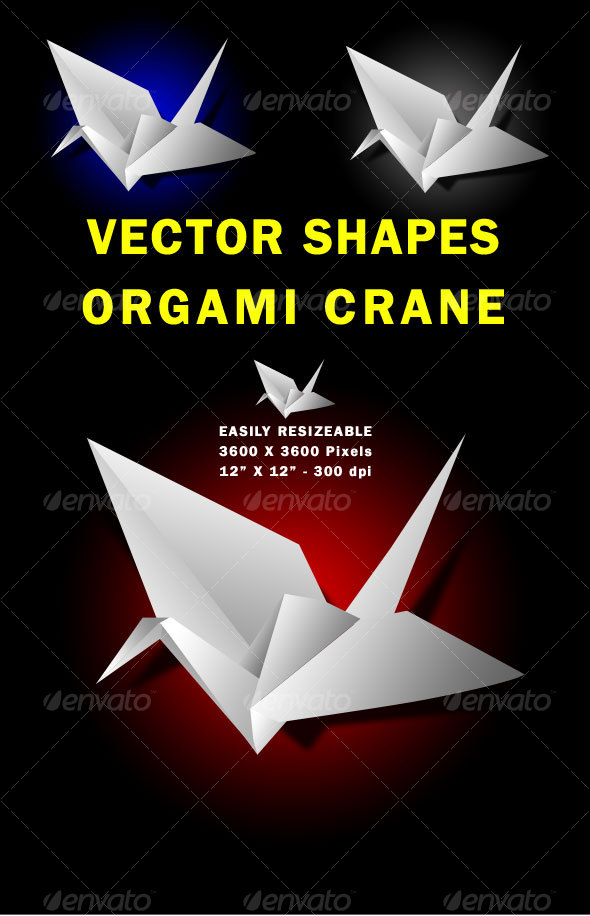 GraphicRiver Vector Paper Crane 117029