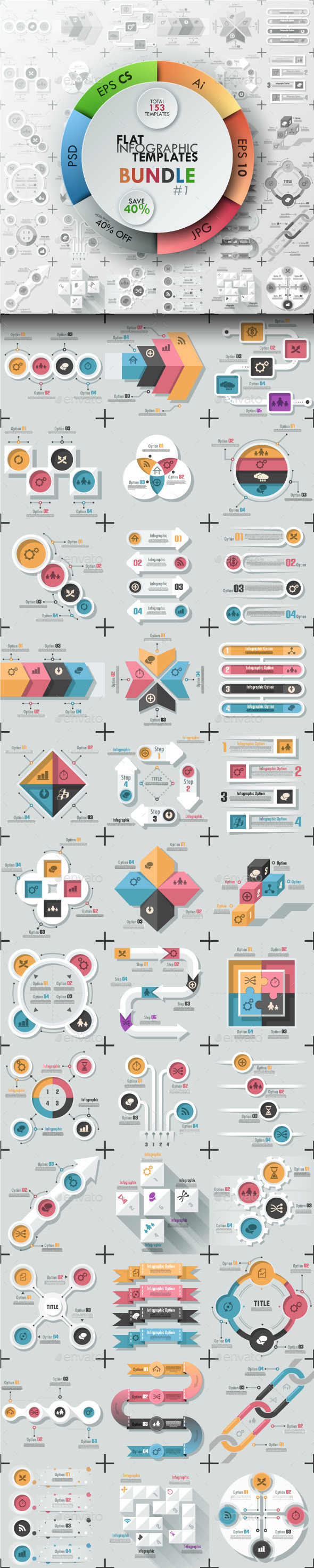 The First Bundle Of Infographics Flat Templates
