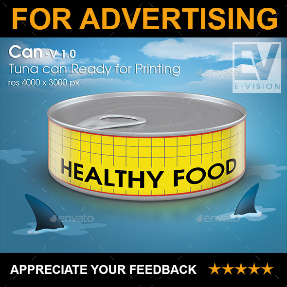 GraphicRiver Canned Tuna V 1.0 Mockup for Printing 9019218