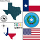 Map of State Texas, USA - GraphicRiver Item for Sale