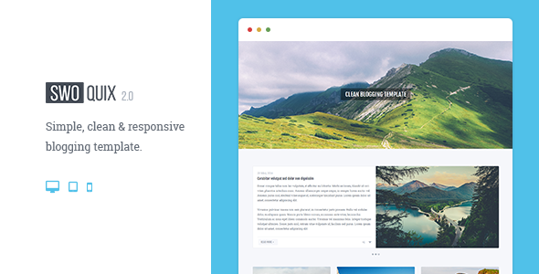 Swoquix — Clean Blogging Theme
