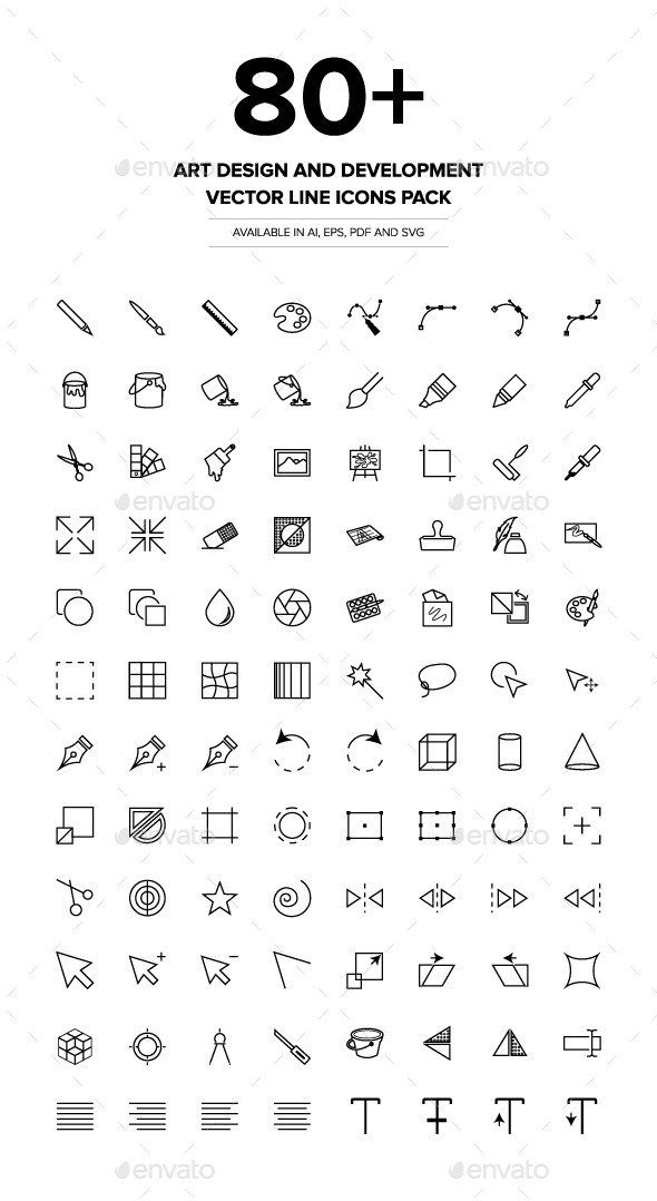 GraphicRiver Art Design and Development Vector Icons 9019719