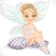 Fairy in White Dress Sit on Floor  - GraphicRiver Item for Sale