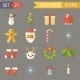 Flat Design New Year Symbols Christmas Accessories - GraphicRiver Item for Sale