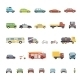 Modern Flat Design Transport Symbols Stylish Retro - GraphicRiver Item for Sale