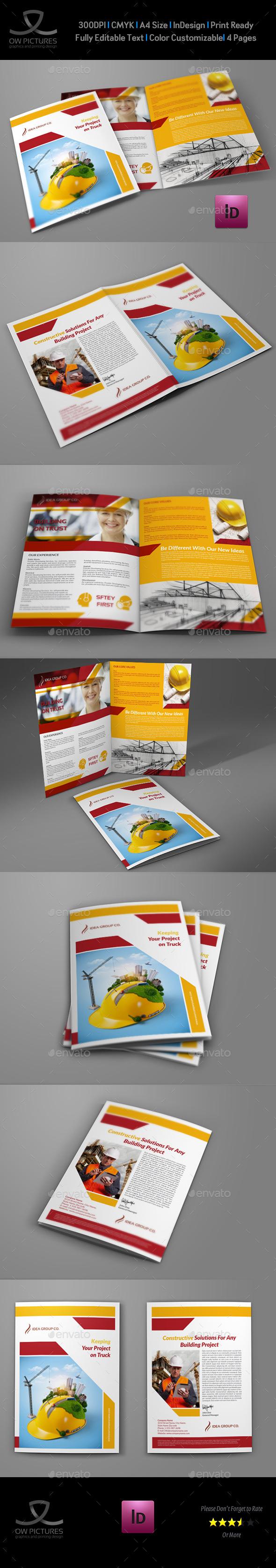 GraphicRiver Construction Company Brochure Bi-Fold Vol.2 9019745