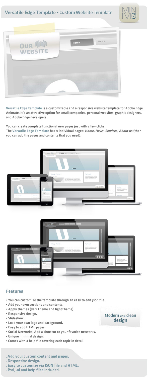 CodeCanyon Versatile Edge Template Custom Website Template 9019783