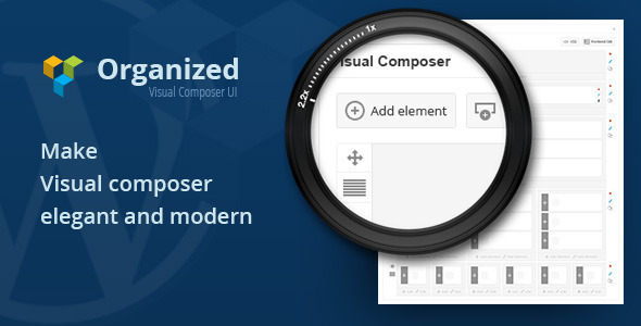 Organized Visual Composer UI