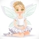 Fairy Girl in Tiara Sit on Floor - GraphicRiver Item for Sale