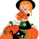 Halloween Witch with Pumpkins - GraphicRiver Item for Sale